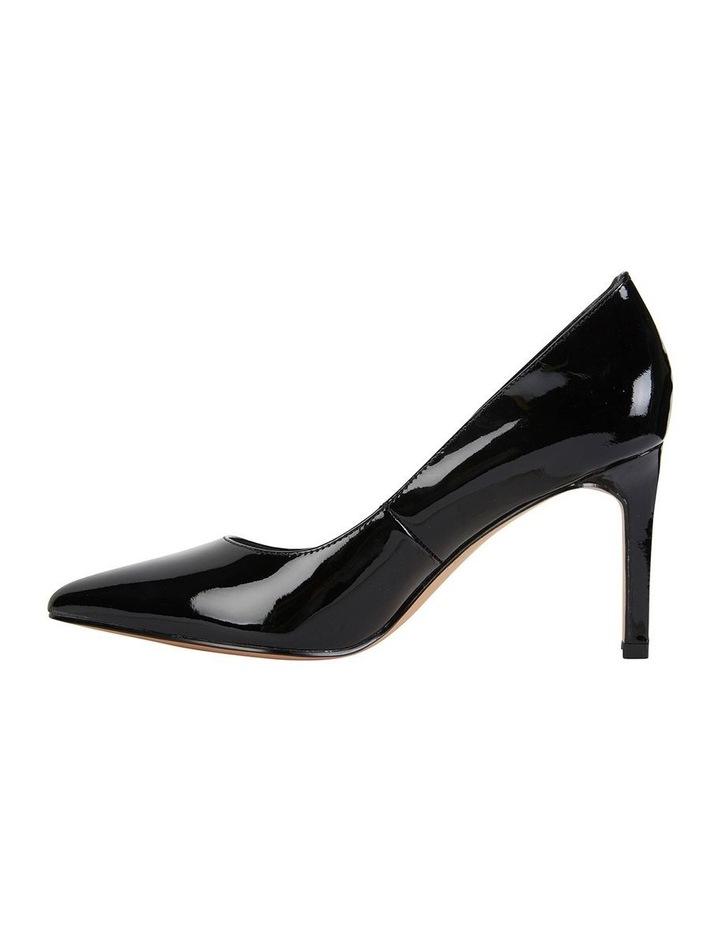 Octavia Black Patent Heeled Shoes image 2