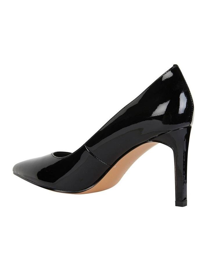 Octavia Black Patent Heeled Shoes image 3