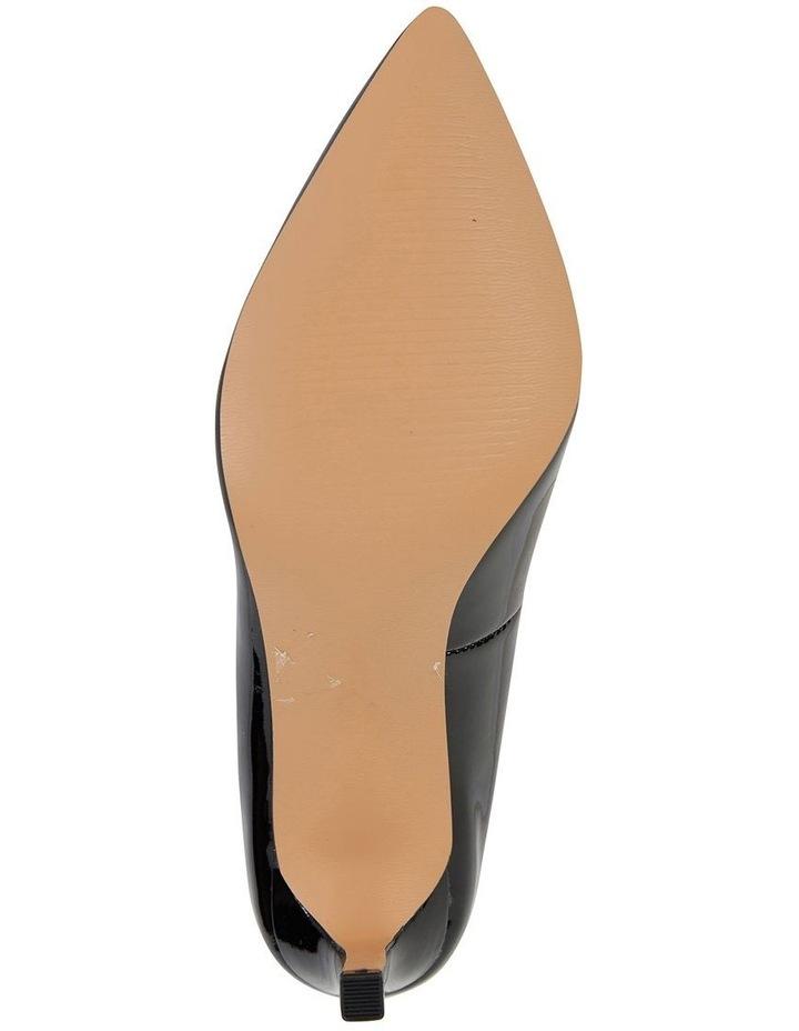 Octavia Black Patent Heeled Shoes image 5