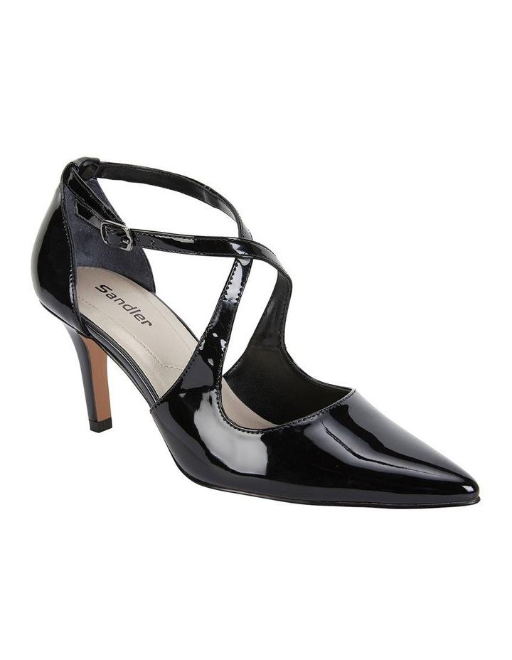 Merit Black Patent Heeled Shoes image 2