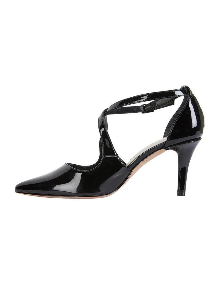 Merit Black Patent Heeled Shoes image 3