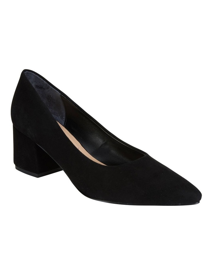 Idol Black Suede Heeled Shoe image 1