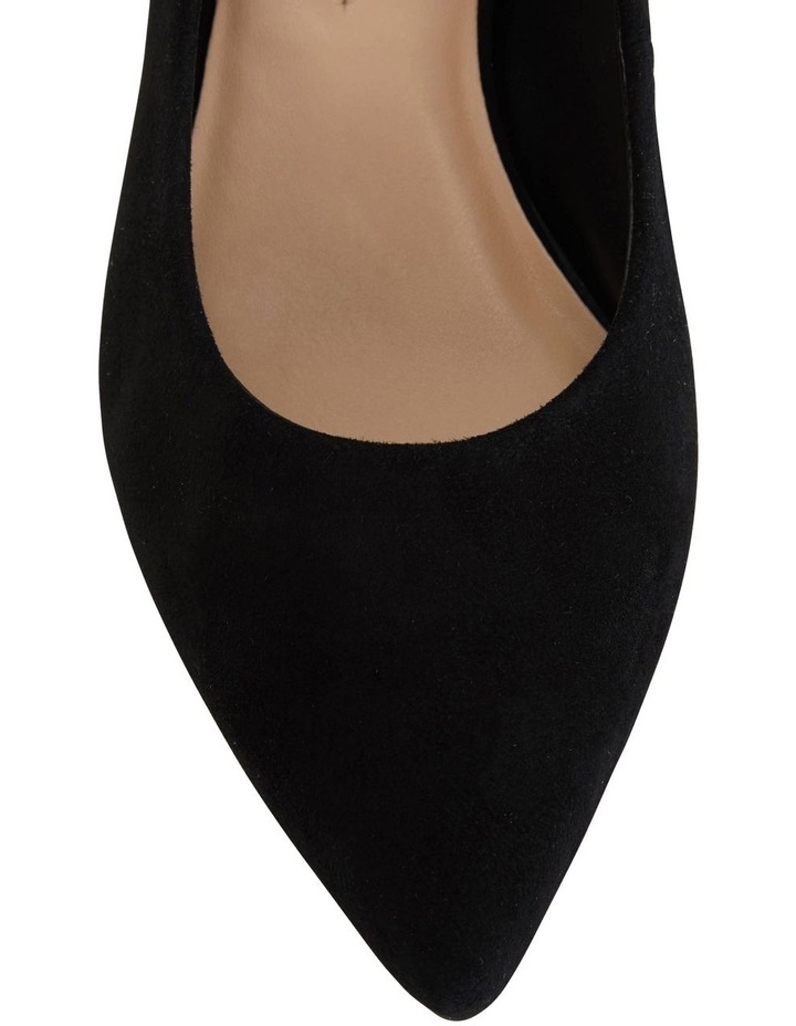 Idol Black Suede Heeled Shoe image 2