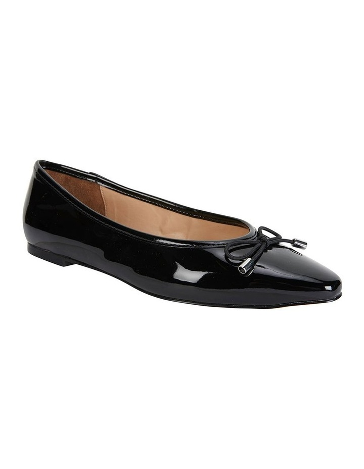 Kindle Black Patent Flat Shoe image 2