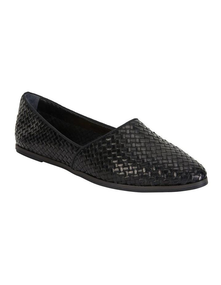 Shift Black Plait Flat Shoe image 2
