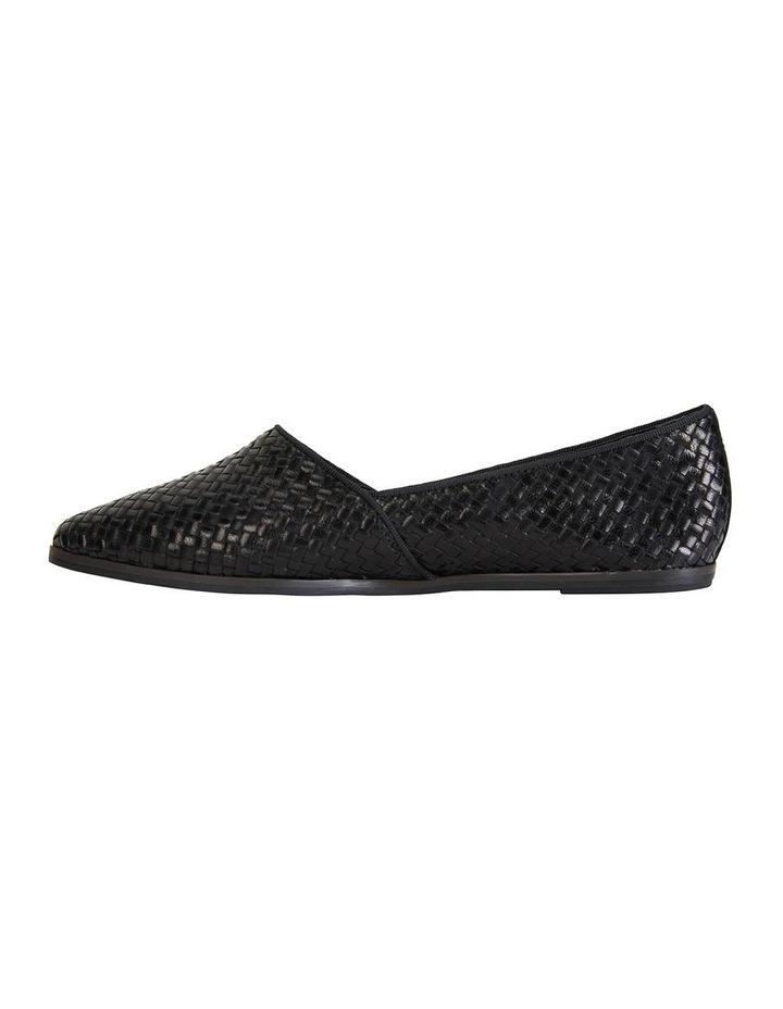 Shift Black Plait Flat Shoe image 3