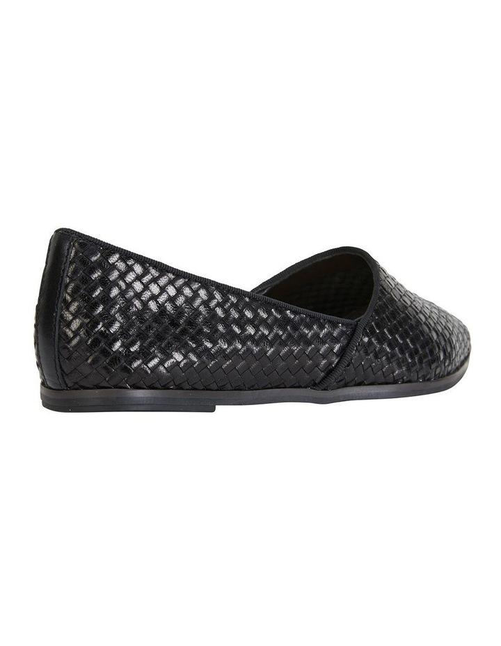 Shift Black Plait Flat Shoe image 4