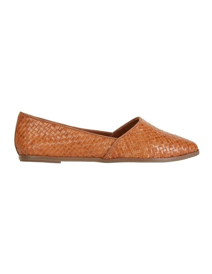 Shift Cognac Plait Flat Shoe image 1