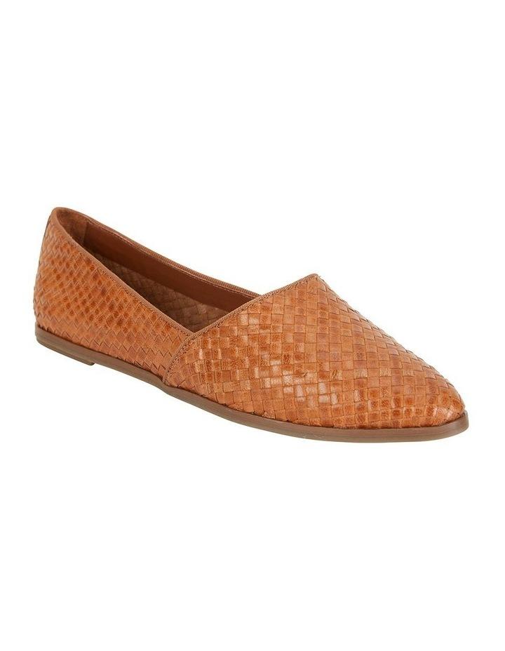 Shift Cognac Plait Flat Shoe image 2