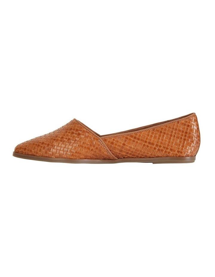 Shift Cognac Plait Flat Shoe image 3