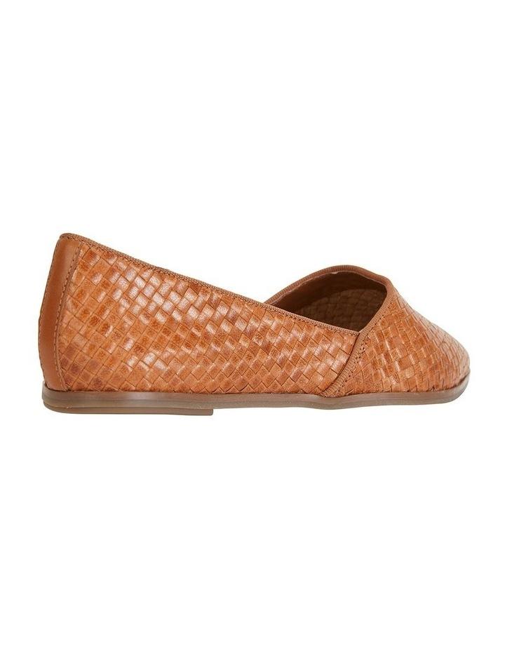 Shift Cognac Plait Flat Shoe image 4