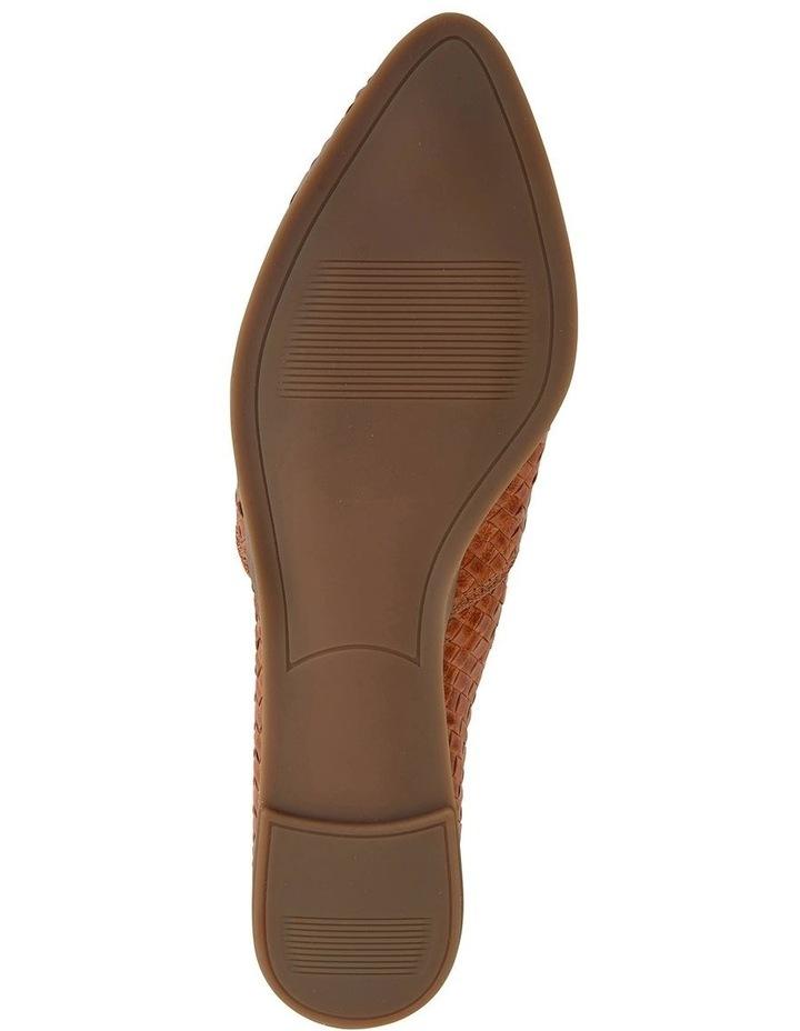 Shift Cognac Plait Flat Shoe image 5