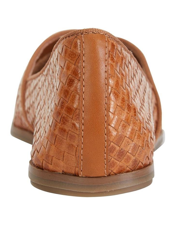 Shift Cognac Plait Flat Shoe image 6