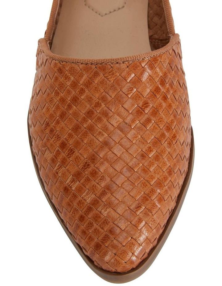 Shift Cognac Plait Flat Shoe image 7