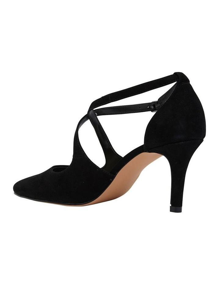 Merit Black Suede Heeled Shoes image 4