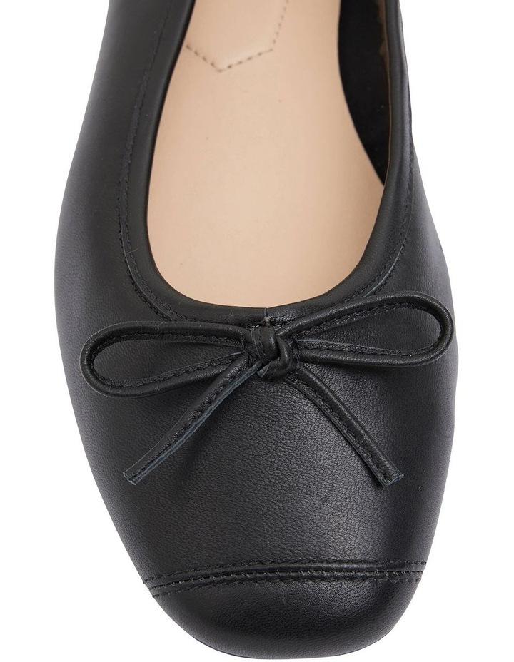Alexa Black Glove/Softee Flat Shoes image 5