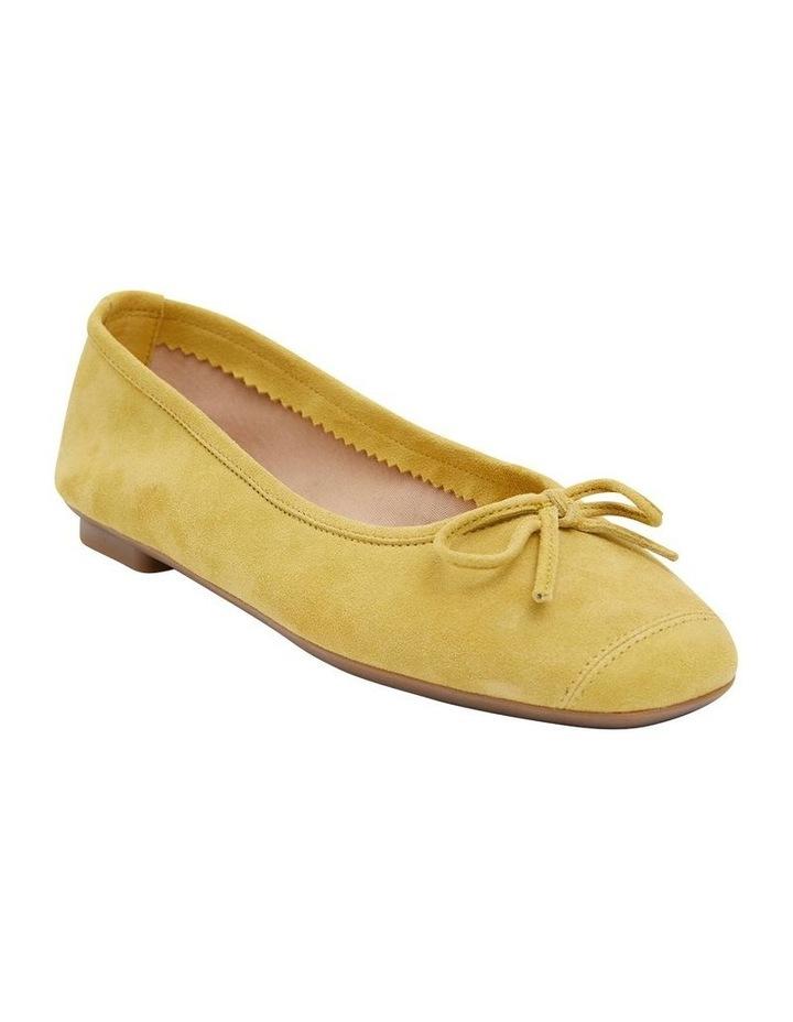 Alexa Mustard Suede Flat Shoes image 2
