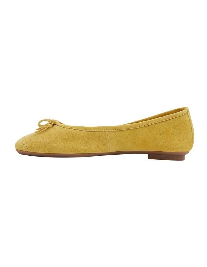 Alexa Mustard Suede Flat Shoes image 3