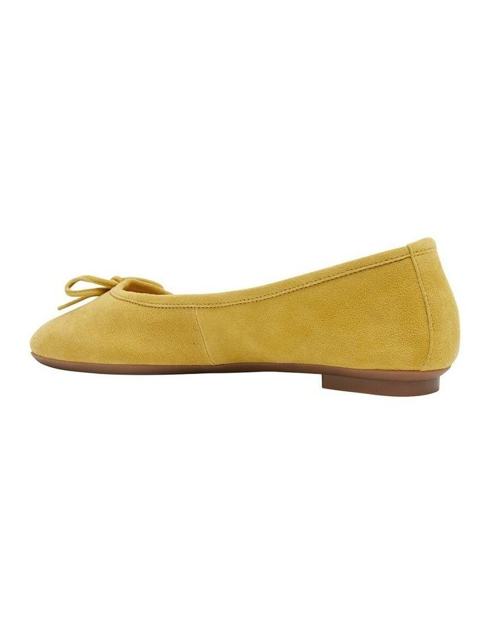 Alexa Mustard Suede Flat Shoes image 4