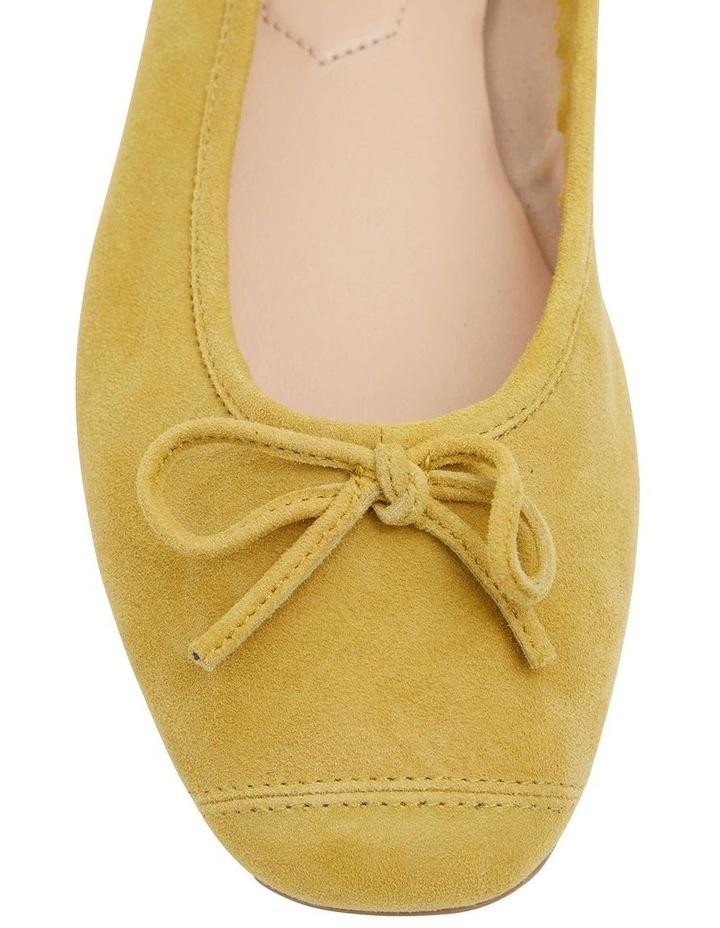 Alexa Mustard Suede Flat Shoes image 5