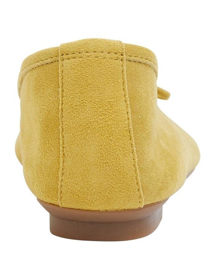 Alexa Mustard Suede Flat Shoes image 6