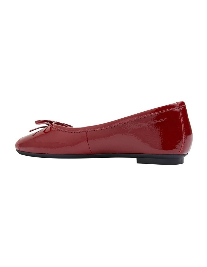Alexa Ruby Red Crinkle Patent Flat Shoes image 4