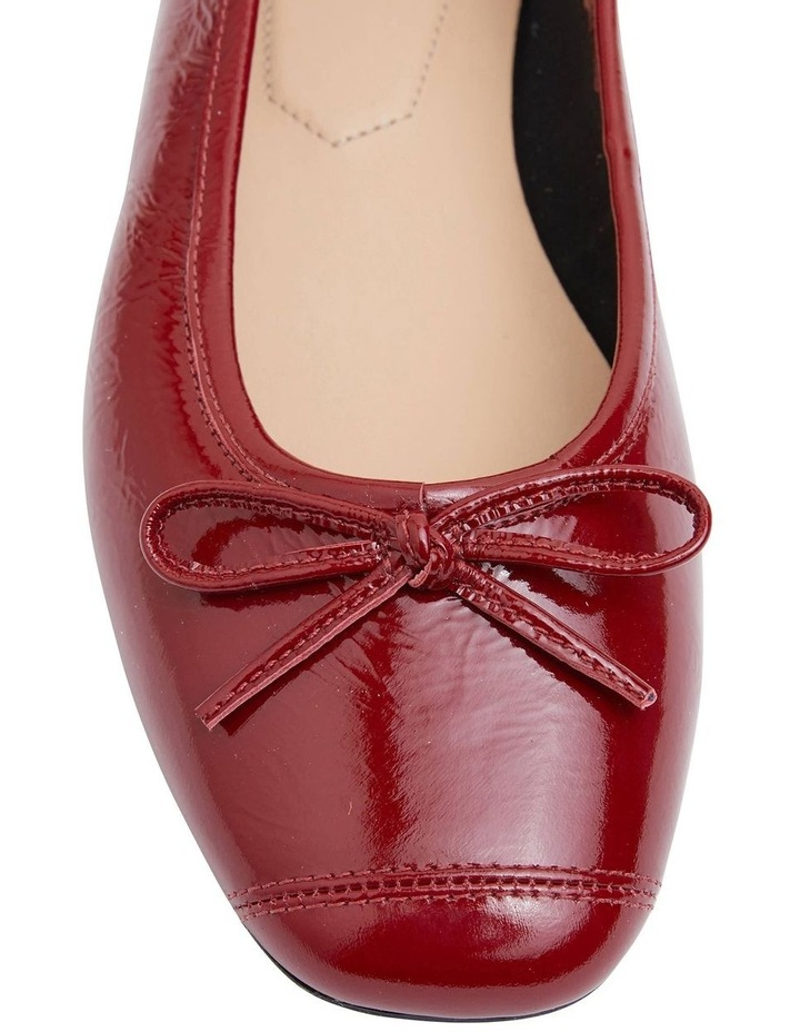 Alexa Ruby Red Crinkle Patent Flat Shoes image 5