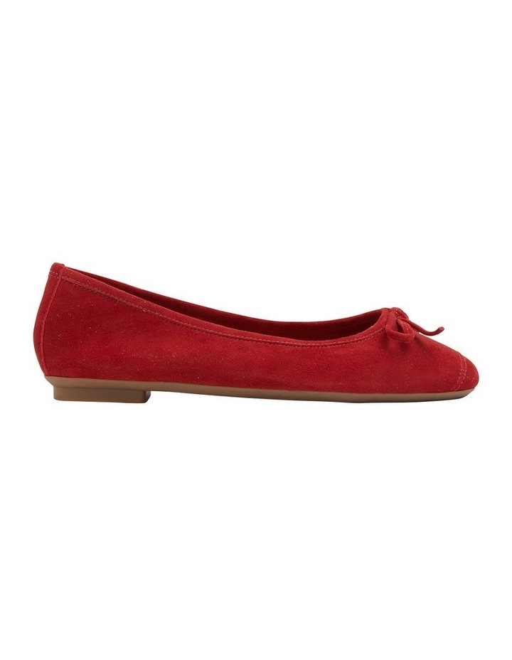 Alexa Ruby Red Suede Flat Shoes image 1