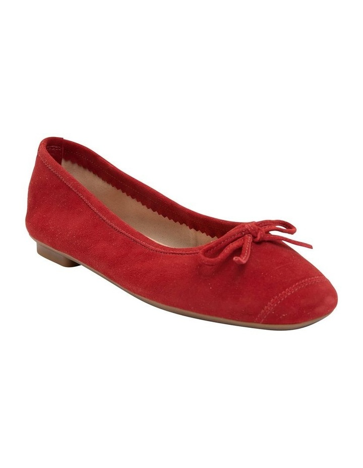 Alexa Ruby Red Suede Flat Shoes image 2