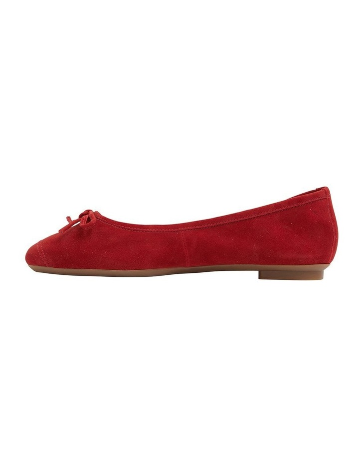 Alexa Ruby Red Suede Flat Shoes image 3
