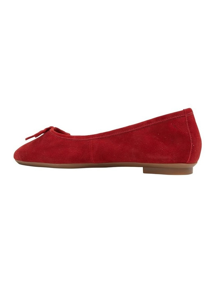 Alexa Ruby Red Suede Flat Shoes image 4