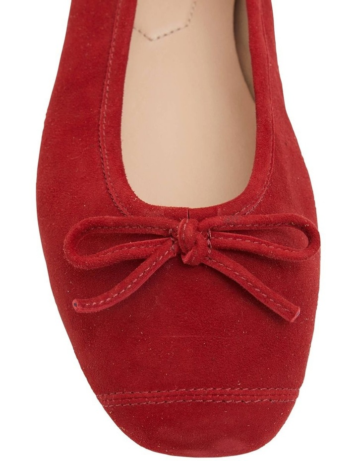 Alexa Ruby Red Suede Flat Shoes image 5
