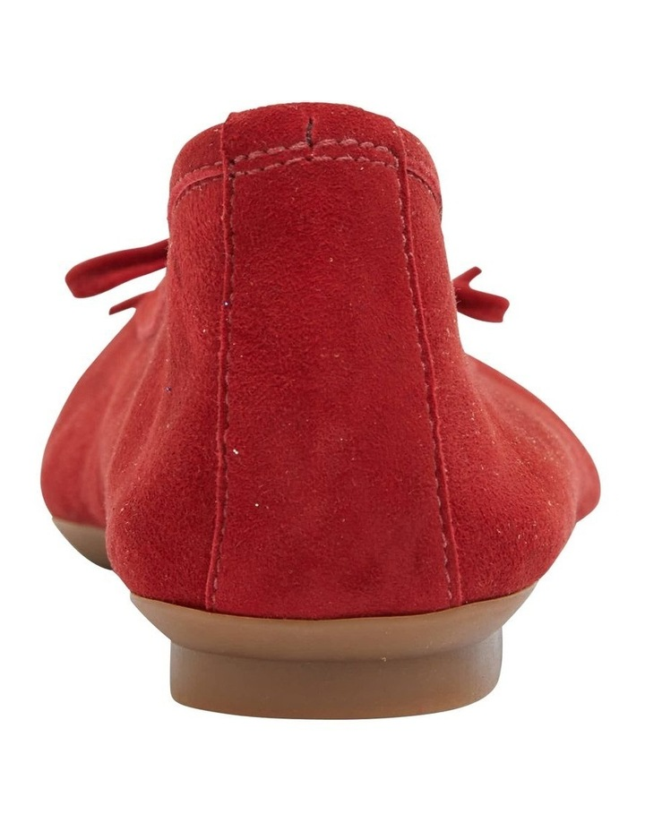 Alexa Ruby Red Suede Flat Shoes image 6