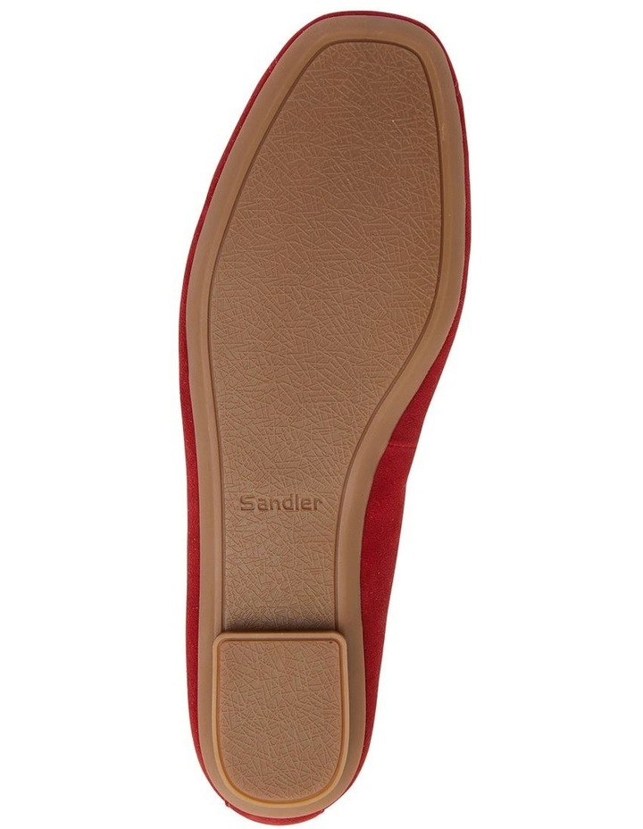 Alexa Ruby Red Suede Flat Shoes image 7