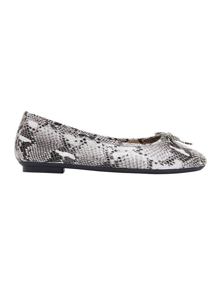 Alexa Taupe Snake Flat Shoes image 1