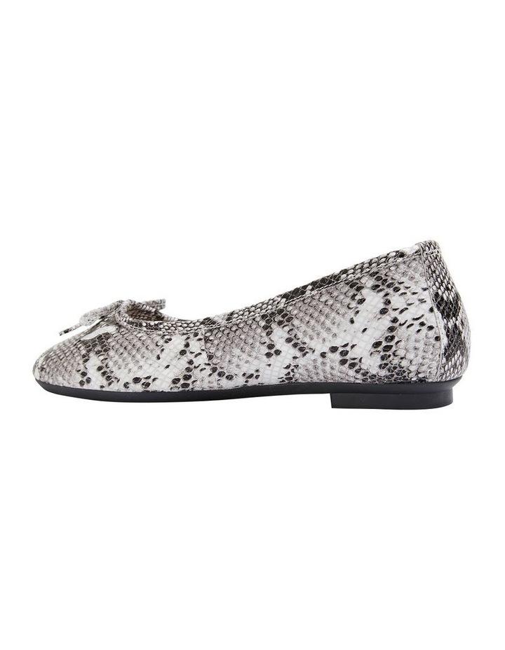 Alexa Taupe Snake Flat Shoes image 4