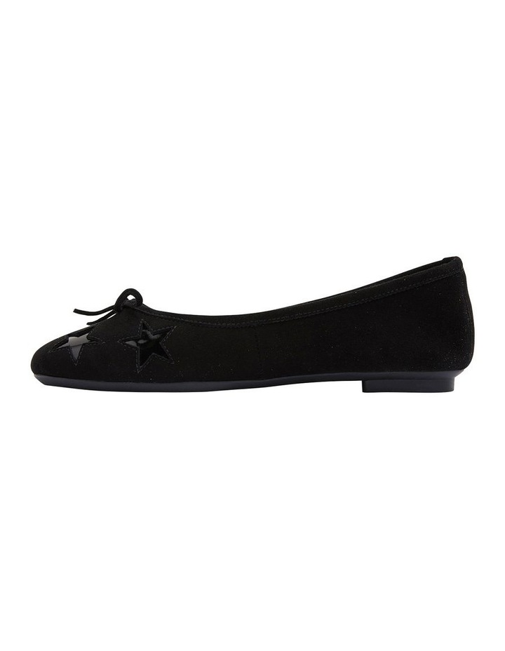 Astral Black Suede/Patent Flat Shoes image 3
