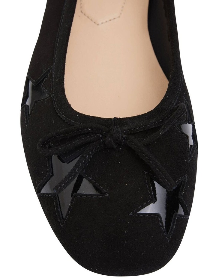 Astral Black Suede/Patent Flat Shoes image 5