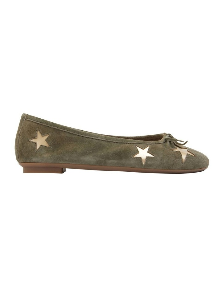 Astral Khaki Suede/Gold Flat Shoes image 1
