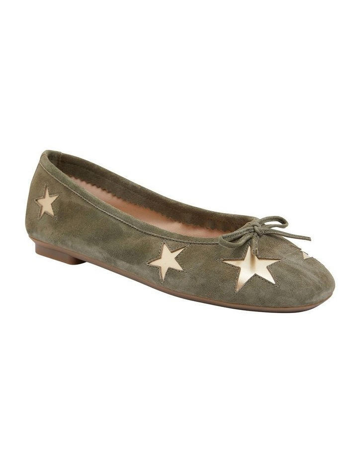 Astral Khaki Suede/Gold Flat Shoes image 2