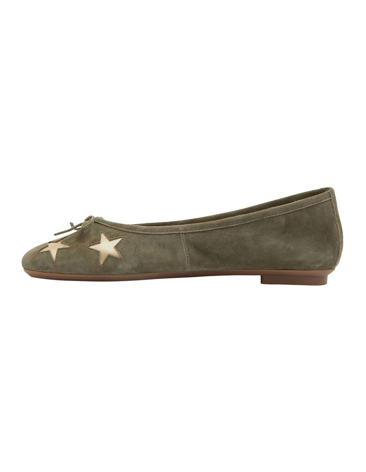Astral Khaki Suede/Gold Flat Shoes image 3