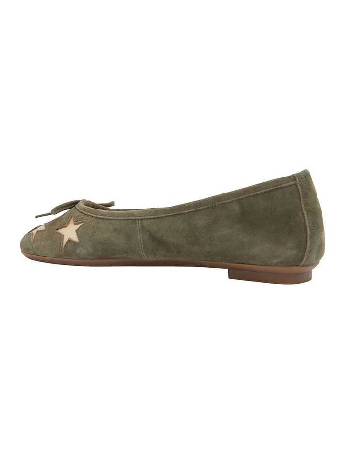 Astral Khaki Suede/Gold Flat Shoes image 4
