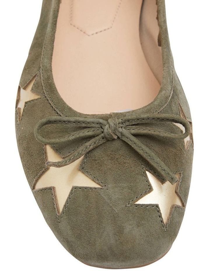 Astral Khaki Suede/Gold Flat Shoes image 5
