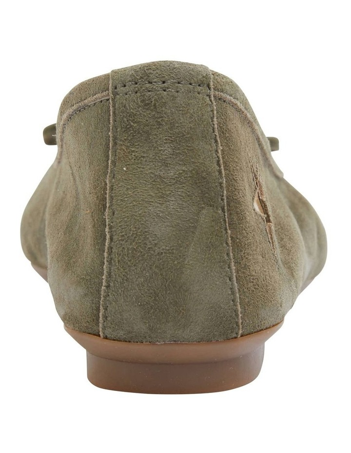 Astral Khaki Suede/Gold Flat Shoes image 6