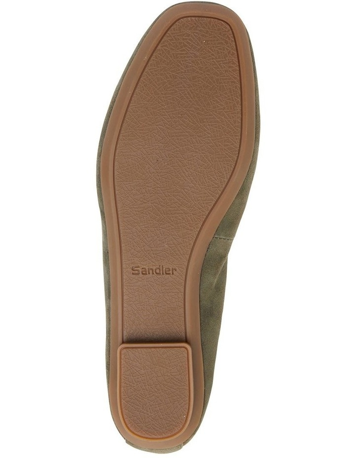 Astral Khaki Suede/Gold Flat Shoes image 7