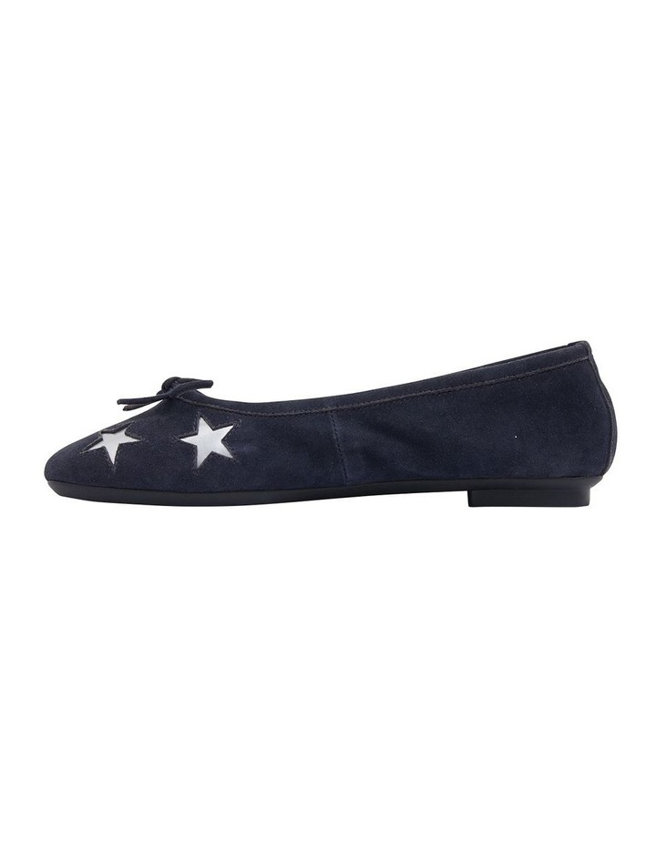 Astral Navy Suede/Silver Flat Shoes image 3