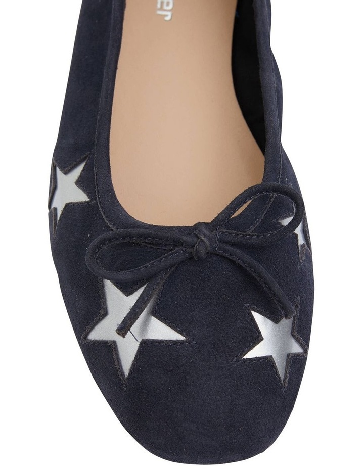 Astral Navy Suede/Silver Flat Shoes image 5