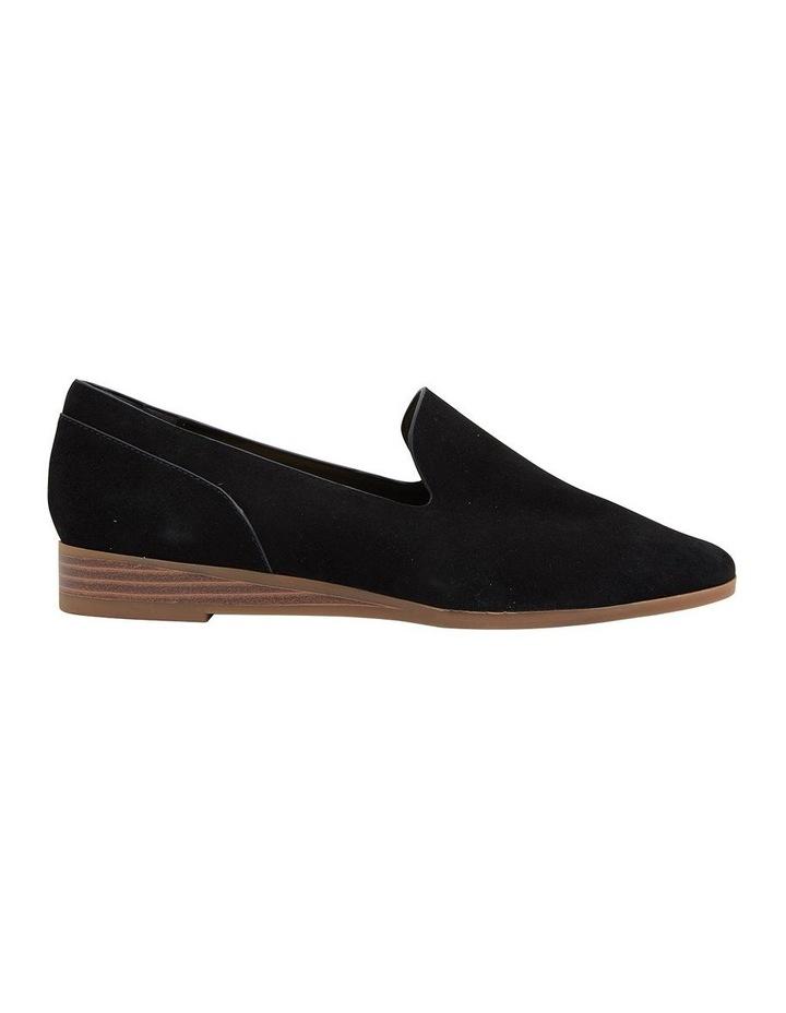 Talbot Black Suede Flat Shoes image 1