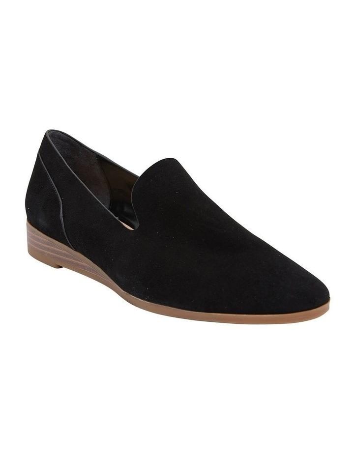 Talbot Black Suede Flat Shoes image 2