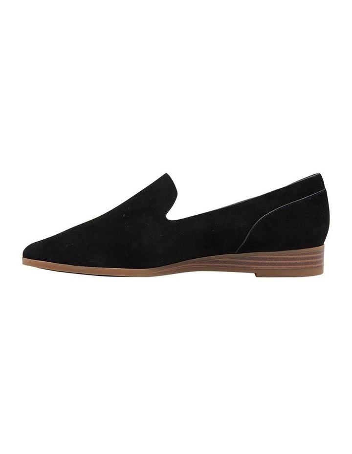 Talbot Black Suede Flat Shoes image 3